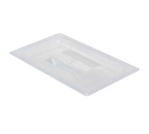 Cambro 40PPCH190 Food Pan Cover, 1/4 size, with handle, polypropylene, translucent, NSF