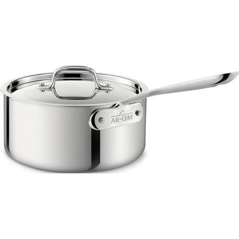 All-Clad, 4203, 3 Qt. Stainless Steel Sauce Pan with  Lid, 3-Ply Bonded Construction