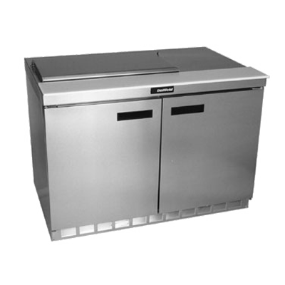"Delfield 4448N-8 Sandwich/Salad Top Refrigerator, two-section, 48"" W, 16.0 cubic feet, 1/5 hp, cUL, UL, NSF"