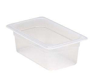 Cambro 44PP190 Food Pan, 1/4 size, 4 deep, polypropylene, translucent, NSF