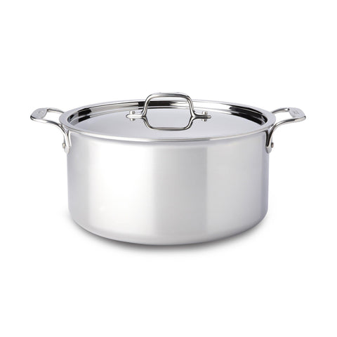 All-Clad, 4508, 8 Qt. Stainless Steel Stock Pot with  Lid, 3-Ply Bonded Construction