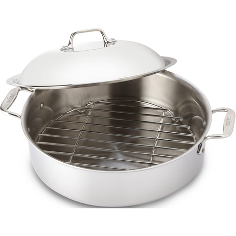 All-Clad, 4515, Stainless Steel, 6 Qt. Stainless Steel French Braiser with  Rack & Domed Lid, 3-Ply Bonded Construction