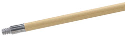"Carlisle 4526700 Sparta® Handle, 60"", threaded, wood with metal tip, 15/16"" D"