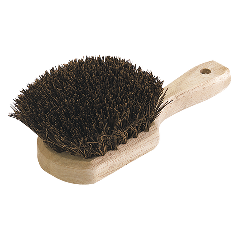 "Carlisle 4546300 Sparta® Utility Scrub Brush, 8-1/2""L x 4""W, wood handle, standard color"
