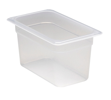Cambro 46PP190 Food Pan, 1/4 size, 6 deep, polypropylene, translucent, NSF