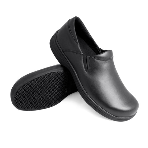 Genuine Grip 4700 Men's Slip-On, Slip Resistant Work Shoes, Black