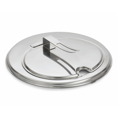 Vollrath 47494 Contemporary Inset Cover, hinged, fits 11-1/4 quart inset, easy on/off lid, dishwasher safe, stainless steel construction