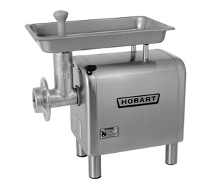 "Hobart 4822+BUILDUP Meat Chopper, bench type, #22 hub, 1-1/2 HP motor, 16 lb/min capacity, 19-1/2"" x 11-1/2"" x 2-1/2"" stainless steel pan, stainless steel housing, 4"" legs, cULus, NSF"