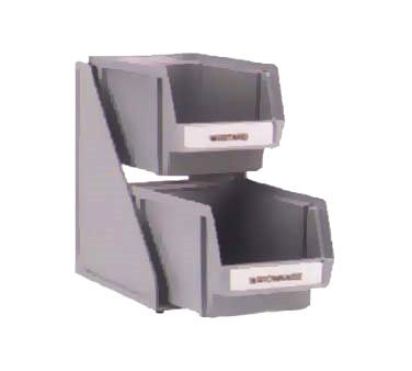 "Vollrath 4840-01 Condiment Self-Serve System Set, (2) tier, (2) 8"" bins & clips, plastic construction, brown"