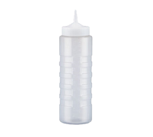 Vollrath 4924-13 Traex® Color-Mate™ Squeeze Bottle Dispenser - 24 oz., Clear Bottle/ Clear Cap