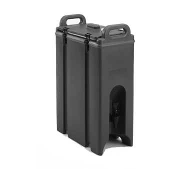 Cambro 500LCD131 Camtainer Beverage Carrier, 4-3/4 gallon, 9W x 16-1/2D x 24-1/4H, insulated plastic, dark brown, NSF