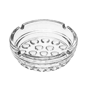 "Libbey 5154 Ash Tray, 4"" diameter, clear glass, 3 dz Per Case"