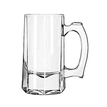 Libbey 5205 Mug/Stein, 10 oz., with handle, glass, clear, 1 dz Per Case