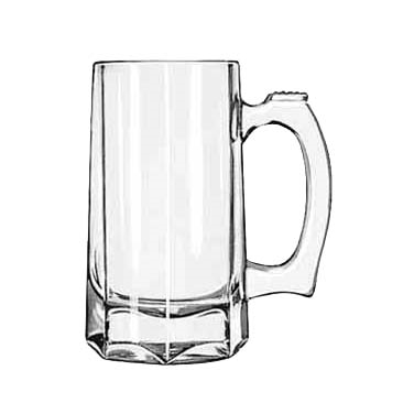 Libbey 5206 Mug/Stein, 12 oz., with handle, glass, clear, 1 dz Per Case