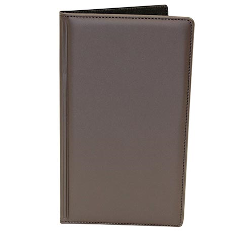 "TableCraft Products 59BR Check Presentation Holder, 5-1/4"" x 9"" brown with gold imprinted ""Thank You"""