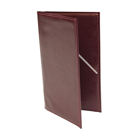 "TableCraft Products 59BU Check Presentation Holder, 5-1/4"" x 9"" burgundy with gold imprinted ""Thank You"""