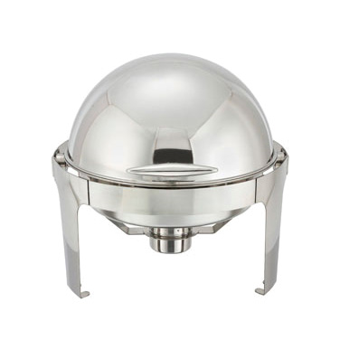 Winco 602 Madison 6 Qt. Chafer w/ Roll-Top Lid, Stainless Steel
