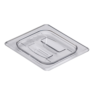 Cambro 60CWCH135 Camwear Food Pan Cover, 1/6 size, with handle, polycarbonate, clear, NSF