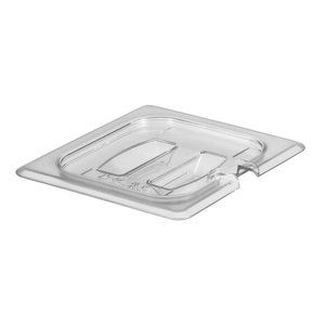 Cambro 60CWCHN135 Camwear Food Pan Cover, 1/6 size, notched, with handle, polycarbonate, clear, NSF
