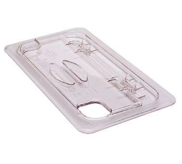 Cambro 60CWLN135 FlipLid Food Pan Cover, 1/6 size, notched, hinged, polycarbonate, clear, NSF