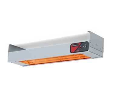 "Nemco 6150-24 Bar Heater, 24"" x 6-3/4"" x 2-3/4"", infrared heating element, aluminum shell, 120v/60/1-ph, 500 watts, 4.2 amps, cETLus, NSF"