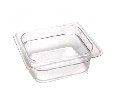 Cambro 62CW135 Camwear Food Pan, 1.1 qt. capacity, 2-1/2 deep, 1/6 size, polycarbonate, clear, NSF