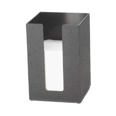 "Cal-Mil 635-13 Classic Napkin Holder, counter or wall mount, 5 1/2"" square x 8"" H, accommodates napkins, acrylic, black"