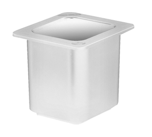 Cambro 66CF148 ColdFest Food Pan, 1/6 size, 6 deep, ABS plastic shell with FDA listed non-toxic gel core, stackable, white, NSF