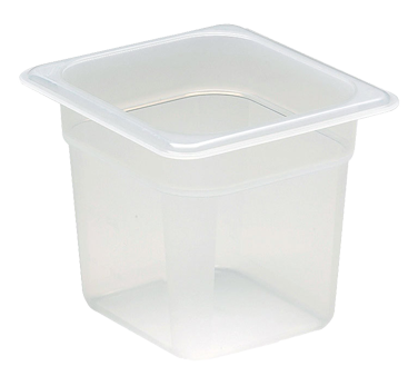 Cambro 66PP190 Food Pan, 1/6 size, 6 deep, polypropylene, translucent, NSF