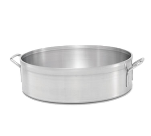 "Vollrath 68224 Classic Select™ Brazier, 24 quart, 3004 Heavy Duty Aluminum, natural finish, welded aluminum handles, double-thick top & bottom, 18"" inside dia., 5-1/2"" inside depth, NSF, Made in USA, Limited Lifetime Warranty"
