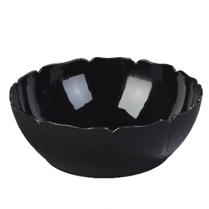 "Carlisle 691903 Petal Mist® Bowl, 17.2 qt., 18"" dia., floral shaped edge, polycarbonate, black, NSF"