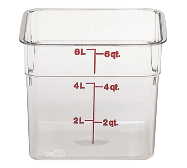 Cambro 6SFSCW135 CamSquare Food Container 6 Qt Plastic Clear, NSF