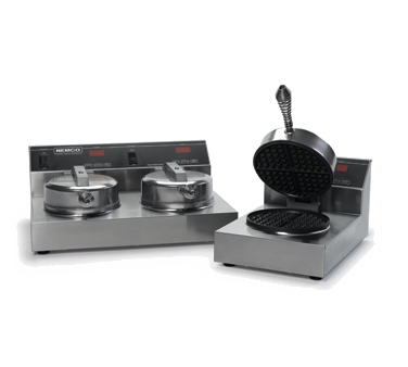 "Nemco 7000A-2S Waffle Baker, dual, up to 20 (2-7"" dia. waffles (1/2"" thick) per hour), stainless steel construction, 120v/60/1-ph, 14.8 amps, 1780W, NEMA 5-15P, cETLus, NSF"