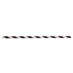 "TableCraft Products 700113 Straws, 7-3/4""L, 8mm thick, individually wrapped, paper, black striped"