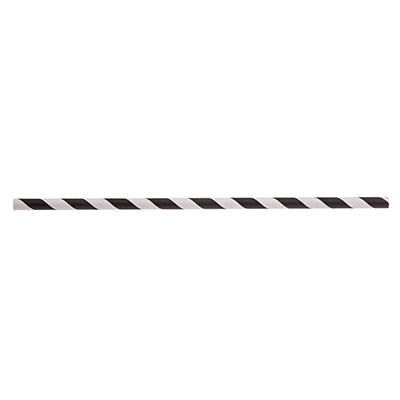 "TableCraft Products 700115 Straws, 10""L, 8mm thick, individually wrapped, paper, black striped"