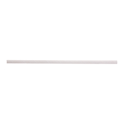 "TableCraft Products 700131 Straws, 10""L, 8mm thick, individually wrapped, paper, solid white"