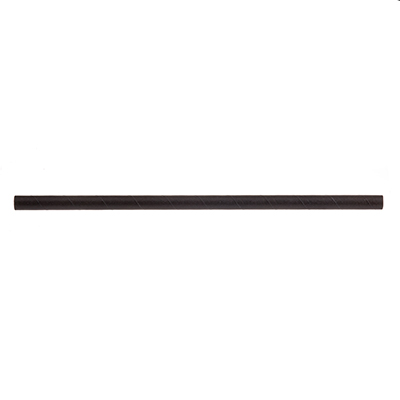 "TableCraft Products 700132 Straws, 7-3/4""L, 8mm thick, unwrapped, paper, solid black"