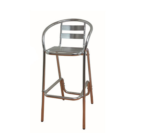DHC 7015-SIL All Aluminum Finish Patio Barstool