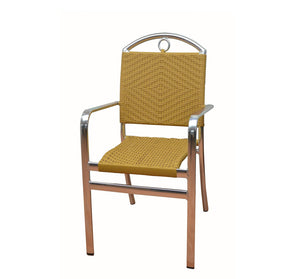 DHC 7200-H Aluminum Frame Patio Chair, Honey