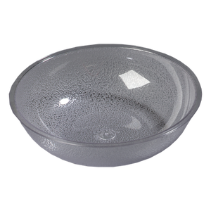 "Carlisle 721007 Salad Bowl, 3 qt., 10"" dia., round, polycarbonate, clear, NSF"