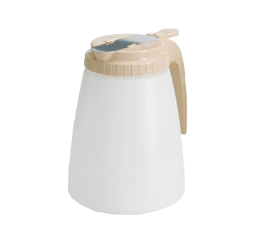 TableCraft Products 748A All Purpose Dispenser, 48 oz., polyethylene jar, almond ABS top, Made in USA
