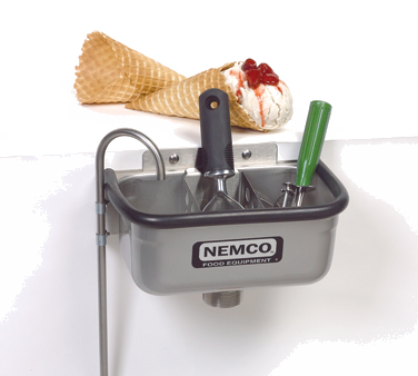"Nemco 77316-10A Ice Cream Spade Dipper Well, 10"", 3/8"" dia., stainless steel body, NSF"