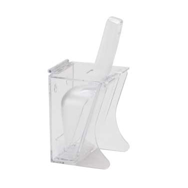 Cal-Mil 789 Scoop Holder, Freestand, Polycarbonate, Clear, NSF