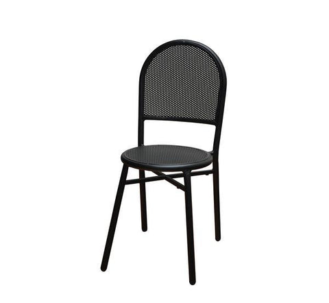 DHC 7911 BLK Stamping Steel Mesh All Steel Patio Chair, Matte Black Finish