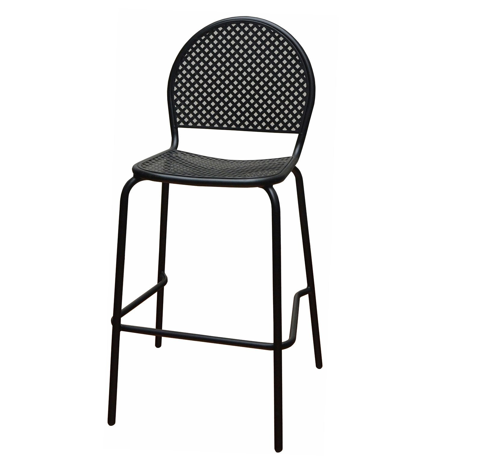 46c413b60e37 DHC 7928B-BLK Stamping Steel Mesh All Steel Patio Chair