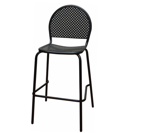 DHC 7928B-BLK Stamping Steel Mesh All Steel Patio Chair, Matte Black Finish