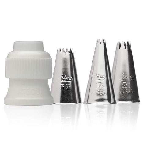 4 piece star piping tip set