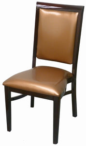 DHC 8660 Steel Chair, Shining Wine Finish, Golden Vinyl Seat, Back & Pad