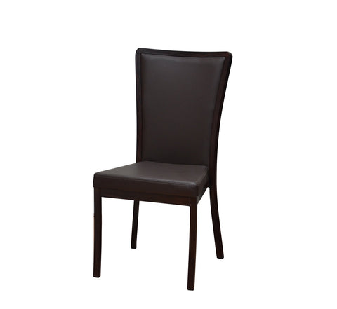 DHC 8665 Aluminum Frame Stacking Banquet Chair, Mahogany Finish