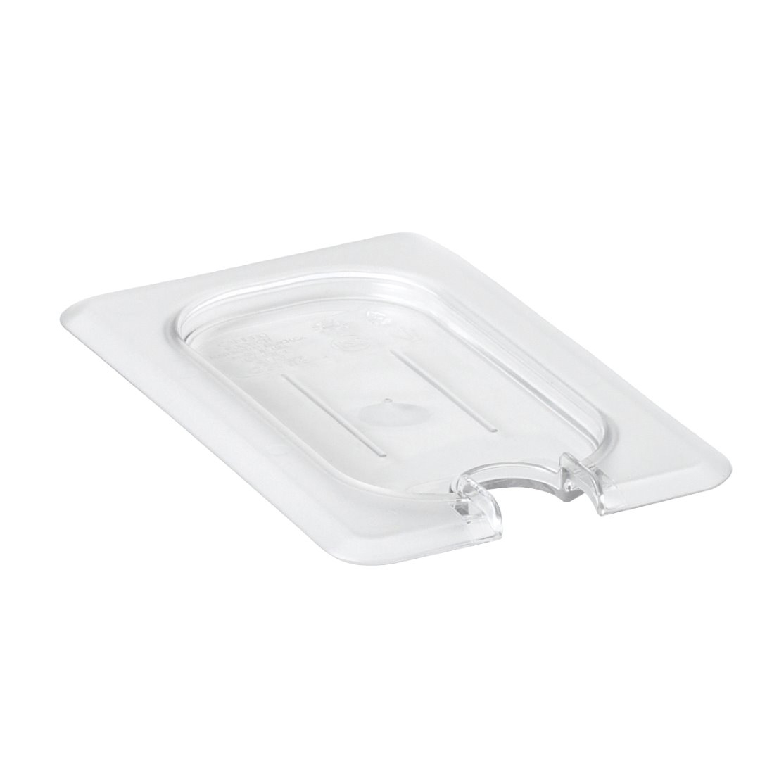 Cambro 90CWCN135 Camwear Food Pan Cover, 1/9 size, flat, notched, polycarbonate, clear, NSF